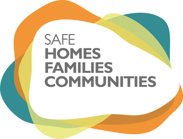 Graphic device of the Safe Homes, Families, Communities program